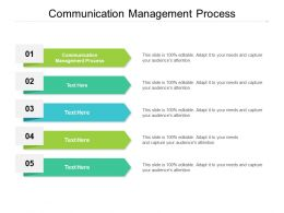 Communication Management Process Ppt Powerpoint Presentation Inspiration Example Cpb