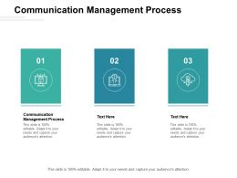 Communication Management Process Ppt Powerpoint Presentation Tips Cpb