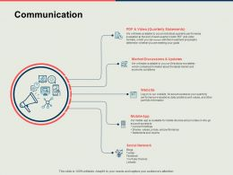 Communication Market Discussions Ppt Powerpoint Presentation Infographics Example