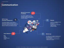 Communication Market Discussions Ppt Powerpoint Presentation Portfolio Master Slide
