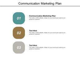 Communication Marketing Plan Ppt Powerpoint Presentation Slides Cpb