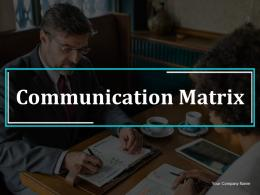 Communication Matrix Information Persuasion Dialogue Consensus Creation