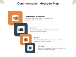 Communication Message Map Ppt Powerpoint Presentation Gallery Outfit Cpb