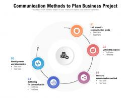 Communication Methods To Plan Business Project