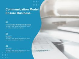 Communication Model Ensure Business Ppt Powerpoint Presentation Portfolio Layout Cpb