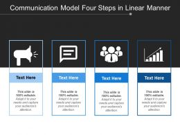 Communication Model Four Steps In Linear Manner