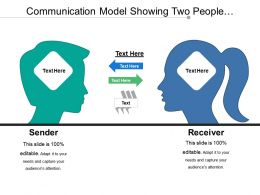 Communication Model Showing Two People Communicating