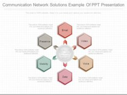 Communication Network Solutions Example Of Ppt Presentation