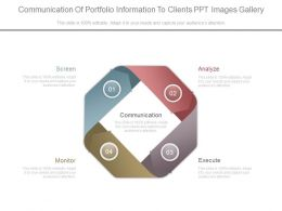 Communication Of Portfolio Information To Clients Ppt Images Gallery