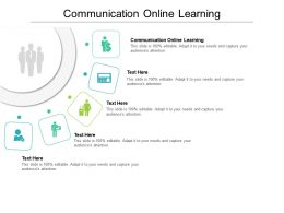 Communication Online Learning Ppt Powerpoint Presentation Model Graphic Tips Cpb