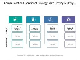 Communication Operational Strategy With Convey Multiply Align And Contribute