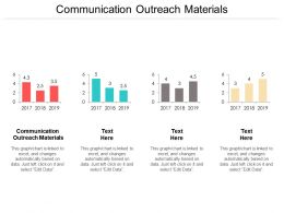 Communication Outreach Materials Ppt Powerpoint Presentation Layouts Smartart Cpb
