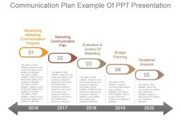 Communication Plan Example Of Ppt Presentation