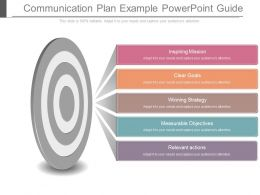 Communication Plan Example Powerpoint Guide