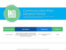 Communication Plan General Format Cyber Security Phishing Awareness Training Ppt Formats