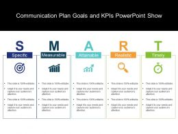 Communication Plan Goals And Kpis Powerpoint Show