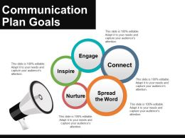 Communication Plan Goals Example Of Ppt Presentation