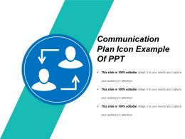 Communication Plan Icon Example Of Ppt