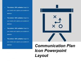 Communication Plan Icon Powerpoint Layout