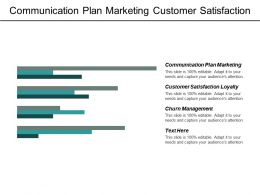 Communication Plan Marketing Customer Satisfaction Loyalty Churn Management Cpb