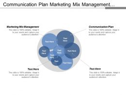 Communication Plan Marketing Mix Management Organizational Leadership Project Prioritization Cpb