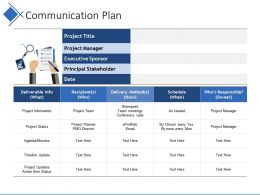 Communication Plan Powerpoint Slide Deck Samples