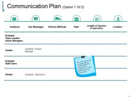 Communication Plan Powerpoint Slides Design