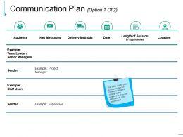 Communication Plan Powerpoint Slides Design