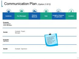 Communication Plan Powerpoint Templates