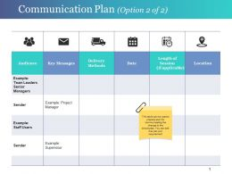 Communication Plan Ppt Infographic Template