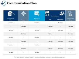 Communication Plan Ppt Portfolio Images