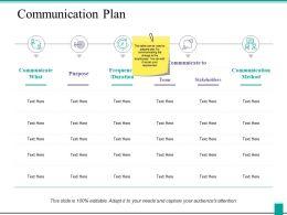 Communication Plan Ppt Powerpoint Presentation Diagram Images