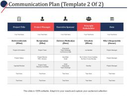 Communication Plan Ppt Powerpoint Presentation File Inspiration