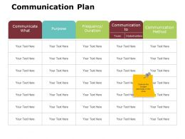 Communication Plan Ppt Powerpoint Presentation Gallery Themes