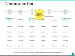 Communication Plan Ppt Powerpoint Presentation Icon Pictures