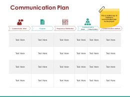 Communication Plan Ppt Slide Show