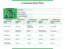 Communication Plan Ppt Slide Template