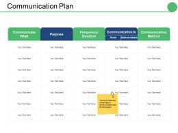 Communication Plan Ppt Styles Graphics Tutorials