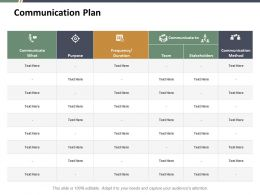 Communication Plan Ppt Summary Example Introduction