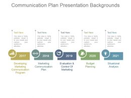 Communication Plan Presentation Backgrounds