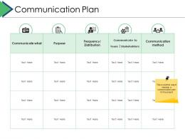 Communication Plan Project Brief Ppt Powerpoint Presentation Gallery Pictures