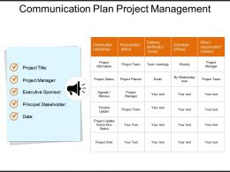 Communication Plan Project Management Powerpoint Slide Deck