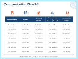 Communication Plan Purpose Ppt Powerpoint Presentation Infographics Pictures