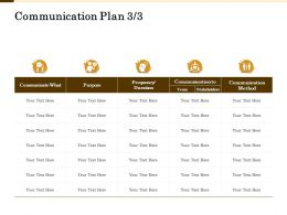 Communication Plan Stakeholders M2132 Ppt Powerpoint Presentation Infographic Template Show