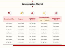 Communication Plan Stakeholders Team Ppt Powerpoint Deck