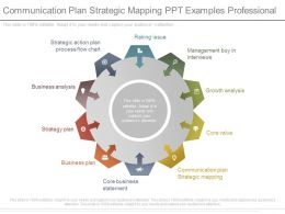Communication Plan Strategic Mapping Ppt Examples Professional