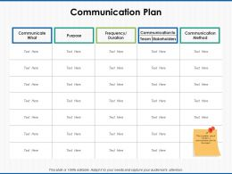 Communication Plan Team Ppt Powerpoint Presentation Outline Mockup