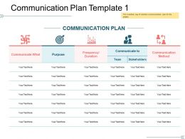 Communication Plan Template 1 Ppt Design