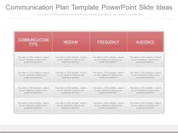 Communication Plan Template Powerpoint Slide Ideas