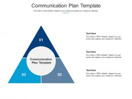Communication Plan Template Ppt Powerpoint Presentation Pictures Show Cpb
